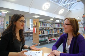 Student meeting Careers Advisor