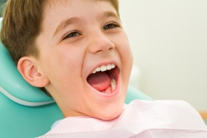 Boy waiting for dental treatment