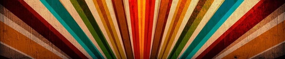 Multicolour sunburst